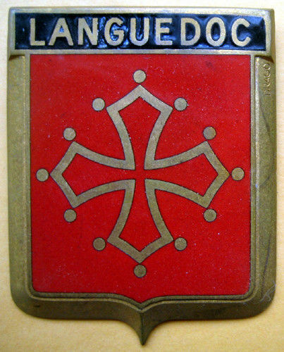 Badge auto car drago 1950s original Languedoc France French