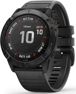 Garmin Fenix 6X Pro, Multisport GPS, 51mm Watch, Black   ***NEW