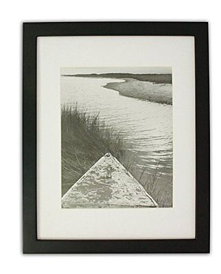 Set of 6 11x14 Photo Wood Frame with Mat for 8x10 Picture BLACK