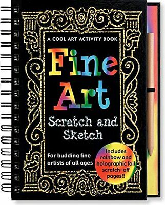 Fine Art: Scratch and Sketch--A Cool Art Activity Book for Bu New Hardcover Book