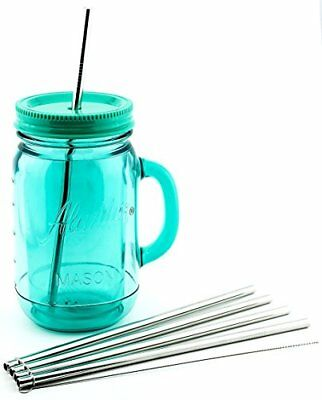 4 Pack Cocostraw for Aladdin Mason Jar 32 oz Tumbler PerfectFIT 18/8 Stainless - Mason Jar Tumbler