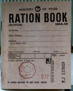 Ration Book - REPLICA WW11 -  Ration Book - World War 2 - History - Schools