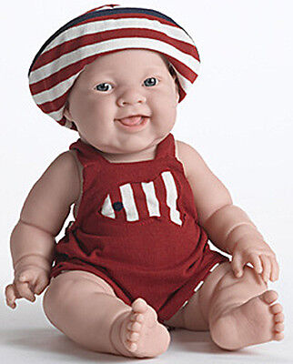 Berenguer Doll Summer Lila Real Girl Red Outfit w/Hat 14 inch all vinyl NEW