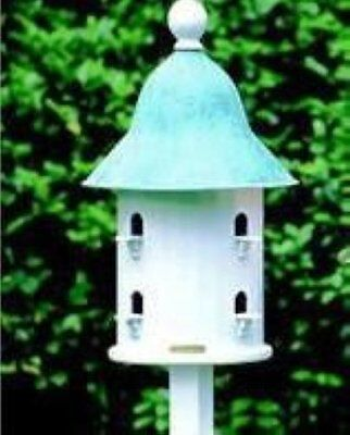 LAZY HILL FARM DECORATIVE BELL BIRD HOUSE COPPER TOP ()