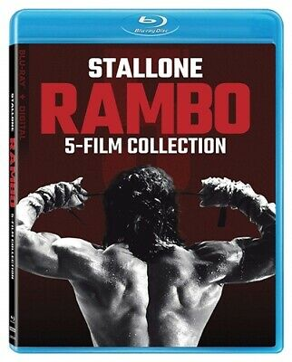 RAMBO 5 FILM COLLECTION Blu-ray 1 2 3 4 5 First Last Blood Sylvester Stallone