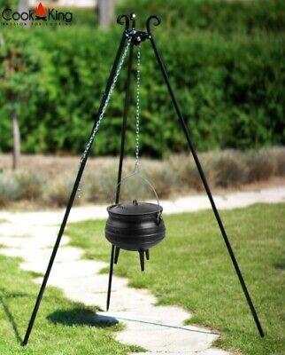Schwenkgrill 180 cm mit Afrikanischem Gusseisenkessel 9L Topf BBQ Gartengrill