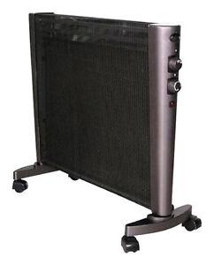 Optimus - Micathermic Flat-Panel Heater - Black