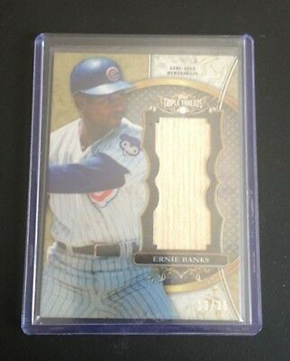 2013 Topps Triple Threads Ernie Banks Gu Unity Jumbo Bat 13 36 Nice