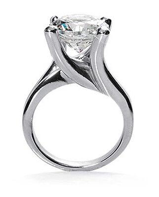 1.54 ct Round brilliant Diamond Solitaire 14k White Gold Ring GIA report K VS2 3