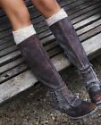 Leather Solid Riding Boots Women's Size 11