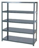 HEAVY DUTY INDUSTRIAL 5-TIER STEEL SHELVING - 36W X 18D X 72H