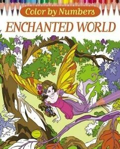 Color by Numbers: Enchanted World by Ortega, Nathalie -Paperback