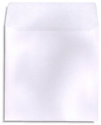 200-pak White Paper Cddvd Sleeves With No Window And With Flap 100gram Weight
