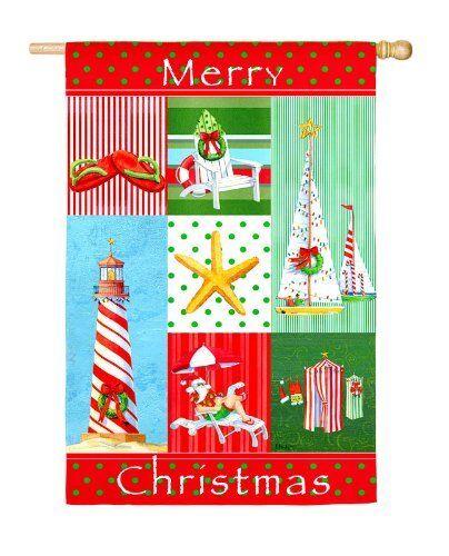 "*NEW* Evergreen ""MERRY CHRISTMAS""  COASTAL CHRISTMAS Nautica"