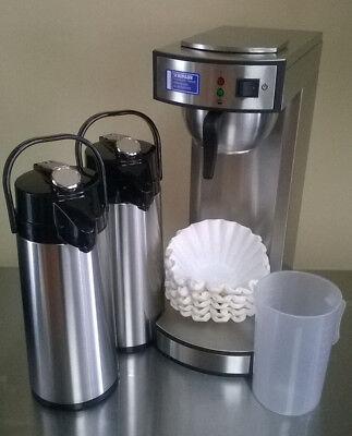 Gastro Kaffeemaschine inkl. 2. Pumpkanne + 1000 Korbfilter + Meßbecher
