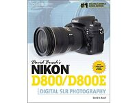 David Busch's Nikon D800/D800E Guide to Digital SLR Photography for sale  Lisburn, County Antrim