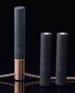 LOCKSTONE-PLUS-PENDANT-GOLD-3-STONES-amp-STEEL-NECKLACE-NEW