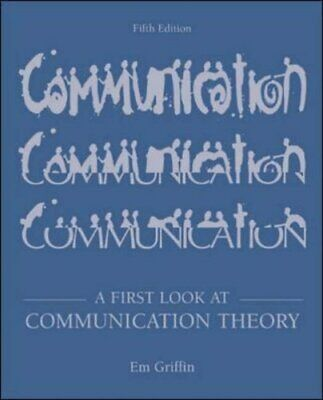 A First Look at Communication Theory with ... by Griffin, Em Mixed media product