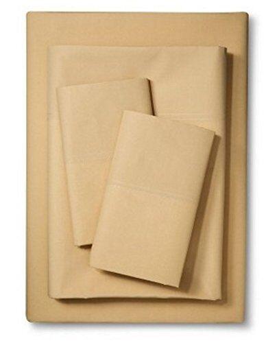 IKEA FULL size 4 piece Sheet set Martorp Tan Beige 400TC for