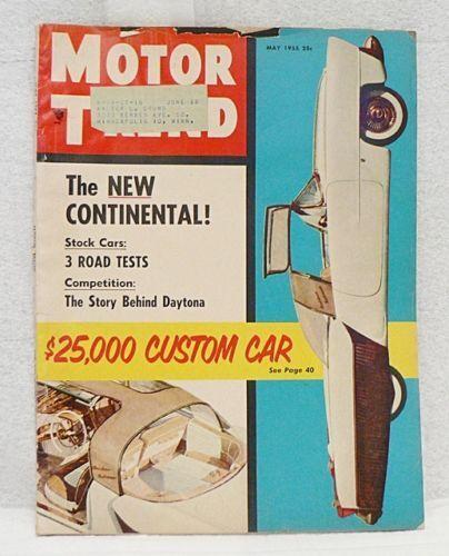 VINTAGE MAY 1955 MOTOR TREND CAR MAGAZINE