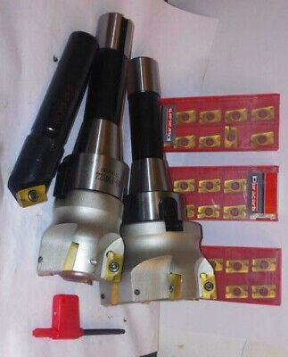 X3 R8 Bridgeport Milling Machine 3-14 Shell Mill Cutter Inserts 30
