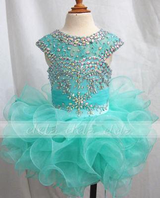 New Kids Girls Cupcake Dress Green Birthday Party Gowns Custom Stcok Size 2/4/6](Cupcake Communion Dress)