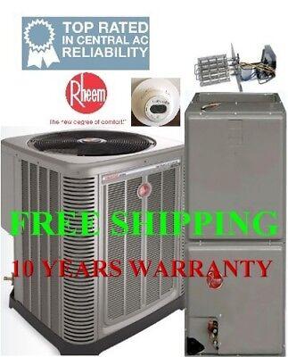 Rheem 3 Ton 14SEER Heat Pump System Condensing Unit-Air Hand