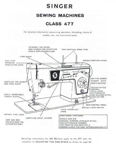singer 478  sewing