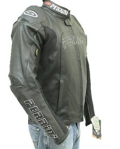 Perrini Tornado Motorcycle Racing Riding Leather Jacket with GP