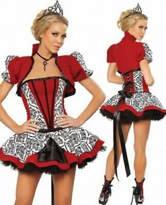 Sexy Costume Travestimento Carnevale Donna Regina Di Cuori Taglia Unica (M/L)