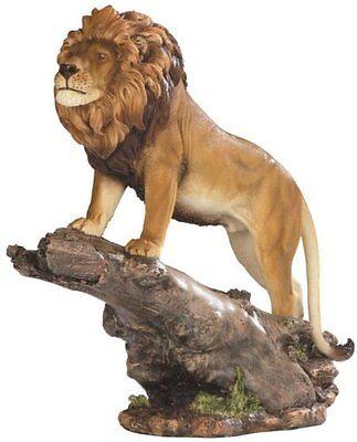 "11.75"" Lion Walking on Branch Figurine Statue Figurine Wild Animal Figure"