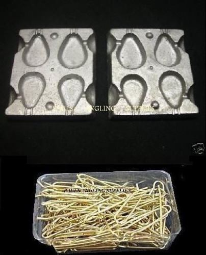 Sea Fishing 4 in 1 Pear Lead Weight Mould /& 100 brass Loops