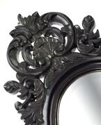 Black Oval Mirror