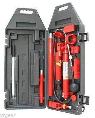 10 Ton Porta Power Hydraulic Jack Body Frame Repair Kit Auto Shop 2 Wheels Lift 10 Ton Hydraulic Jack