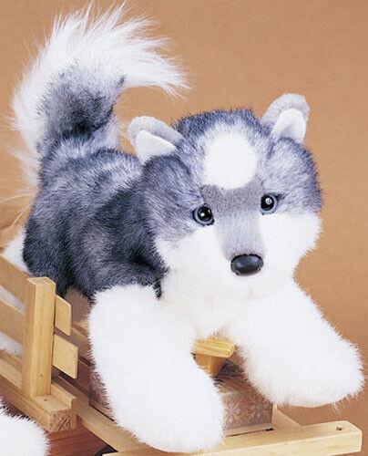 "New DOUGLAS CUDDLE TOY Stuffed Plush SIBERIAN HUSKY Puppy Dog 12"" SOFT"
