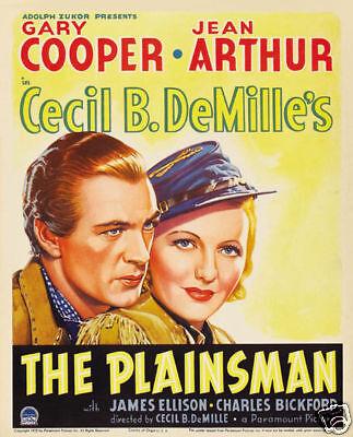 The plainsman Gary Cooper vintage movie poster  (Gary Cooper-poster)