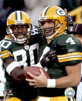 Brett Favre Donald Driver Classic 8X10 Color Photo Green Bay Packers Nfl