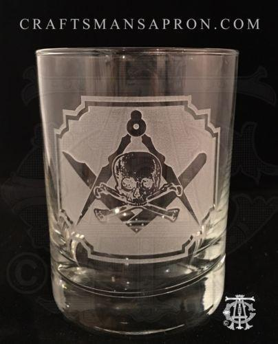 Silence & Circumspection Masonic Rocks Glass
