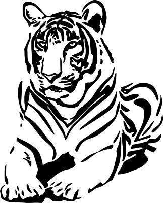 - Tiger Wild Animal Art Graphic Wall Decal Car Truck Window Laptop Vinyl Sticker