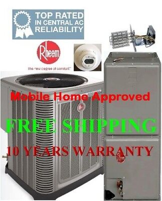 5 Ton R410A 15SEER Heat Pump System Condenser / Air Handler with Coil & Heating