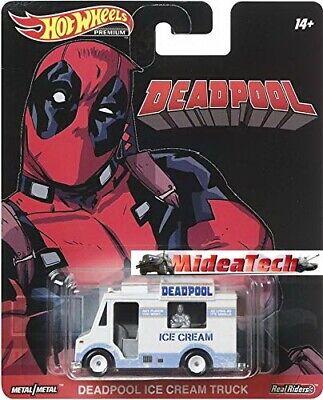 2019 Hot Wheels Retro Deadpool Ice Cream Truck 1/64 Diecast Car DMC55-956N