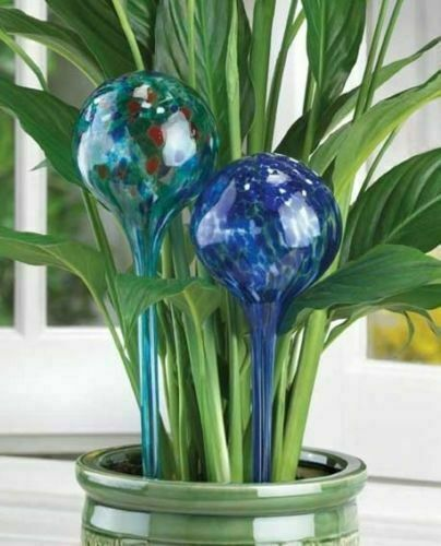 4PC Glass Globes Plant Watering Automatic Watering Ball Bulb