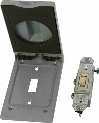 Made In Usa Weatherproof Electrical Outlet Box Cover Single Pole Switch Kit