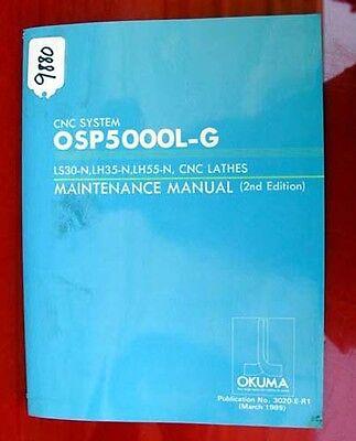 Okuma Ls30-n Lh35-n Lh55-n Cnc Lathe Maintenance Manual 3020-e-r1 Inv.9880