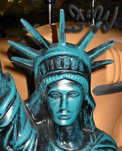 Amerikanische freiheitsstatue 118 cm gr n deko figur for Amerikanische deko