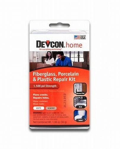 DEVCON RV, Travel Trailer & Home BATH TUB EPOXY REPAIR KIT White / Almond