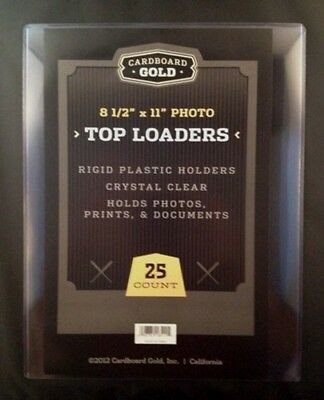 75 8.5x11 Ultra CBG Premium Pro Hard Rigid Toploaders Photo Topload Holders New