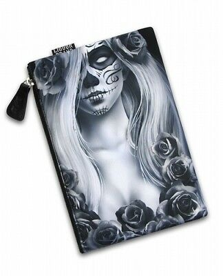 Liquor Brand Love Sugar Skull Punk Gothic Makeup Cosmetic Case Bag - Sugar Skull Makeup
