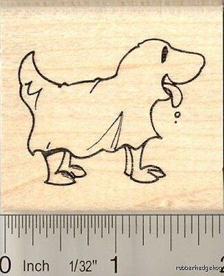 Dog in Halloween costume rubber stamp H11105 WM