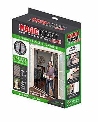 Magic Mesh Double Door - Hands Free Magnetic Screen Door For 75 in x 83 in Doors